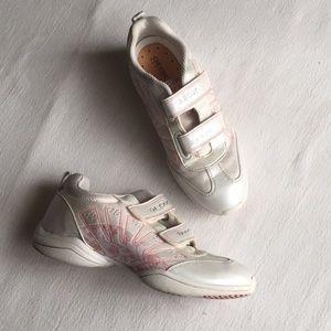 Geox Sporrt White w/ Pink Floral Details Size 37
